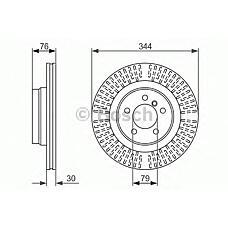BOSCH 0 986 479 489 (SDB500182 / SDB500181 / 17722) диск тормозной передний\ Land rover (Ленд ровер) range rover III 4.4 / 3.0td 02>