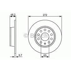 BOSCH 0 986 479 677 (1K0615601AA / 5C0615601 / 181520) диск тормозной задний\ Audi (Ауди) a3, Skoda (Шкода) Octavia (Октавия) / superb, VW Golf (Гольф) / jetta 1.2tsi-3.6 03>