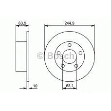 BOSCH 0986479834 (4A0615601A / 8E0615601 / 4A0615301A) диск тормозной volkswagen Passat (Пассат) седан v
