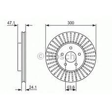 BOSCH 0 986 479 899 (4181042 / 4179398 / C2S4566) _диск тормозной передний\ Ford (Форд) Mondeo (Мондео) 1.8-3.0 / 2.0tdci 00>0 986 479 899_диск тормозной передний\ Ford (Форд) Mondeo (Мондео) 1.8-3.0 / 2.0tdci 00>