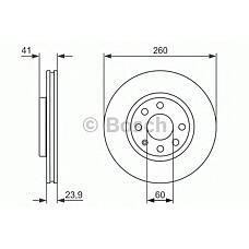 BOSCH 0986479902 (569000 / 9196050 / 9127967) диск тормозной пер Corsa (Корса) c / Meriva (Мерива) 00-> 569000 / 9196050 -----> старый артикул 0986478730