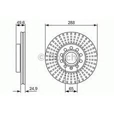 BOSCH 0986479939 (1K0615301T / 1K0615301K / 5C0615301A) диск тормозной Audi (Ауди) a3 04> / VW Caddy (Кадди) 04> / g5 / Touran (Тоуран) 03> передний вент. (цена за 1 шт., к-кт 2 шт.)