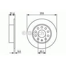 BOSCH 0 986 479 941 (1K0615601K / 1K0615601AB / 230724) диск тормозной задний\ Audi (Ауди) a3, VW Golf (Гольф) 1.4-2.0i / tdi 00>