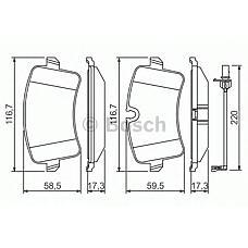 BOSCH 0 986 494 488 (4G0698451 / 4G0698451A / 4G0698451C) колодки дисковые задние\ Audi (Ауди) a6 / a7 / a8 2.0tfsi-6.3 / 2.0tdi-4.2tdi 09>