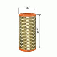 BOSCH 1 457 433 791 (7786626 / 60603977 / 60811342) фильтр воздушный\ Alfa romeo (Альфа ромео) 166 2.0-3.0 / 2.4jtd 98>, lancia kappa 2.0-3.0 / 2.4jtd 94>