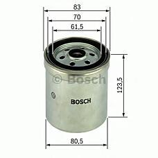 BOSCH 1457434154 (51125030009 / 51125030004 / 51125030010) фильтр топливный scania / Volvo (Вольво) / rvi / man