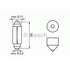BOSCH 1987302521 (W5W / C10W / 6429) лампа накаливания