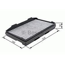 BOSCH 1 987 432 401 (12758727 / 5335948 / 4541546) фильтр салона угольный\ Saab (Сааб) 9-5 all 97>