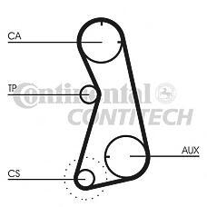 CONTITECH CT872 (048109119G / 048109119C / 036109119) ремень грм 151x254\ VW Golf (Гольф) / Passat (Пассат) 2.0 16v 92-98