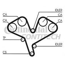 CONTITECH CT884K1 (4773842 / 9120501 / 636728) ремень грм комплект [225зуб.,30mm] + устройство для натяжения ремня + ролик + 3 болта + плоская шайб