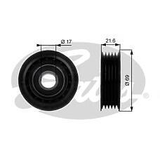 GATES T36189 (6402020319 / 1662020719 / 6682020319) ролик обводной\ mb w168 1.4-2.1 97-04 / w169 1.5-2.0 04> / vaneo 1.6 / 1.9 02>