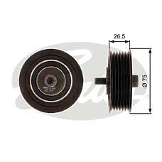 GATES T36262 (03C145276C) ролик обводной vag 1.4 tsi 05- -a / c