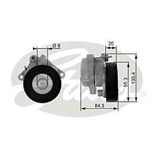 GATES T38174 (1122000970 / 1122000870 / 1122000170) ролик натяжной MERCEDES-BENZ C240-55(202/3) 97-07 / CLK320-55(W208/9) 97-09 / CLS500-55(W219) 04-10 / E240-55(W210/1) 96-08 / G320-55(W463) 97> / ML320-55(W163) 98-05 / S280-55(W220) 98-05 / Viano/Vito(W