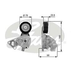 GATES T38307 (038903315AE / 1122523 / 038903315F) ролик Audi (Ауди) / VW 1.9tdi 00-05
