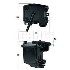 KNECHT KL431D (Y60113480 / 1340105 / 190167) фильтр топливный\ Ford (Форд) Focus (Фокус) 1.6tdci c-max 03>, Peugeot (Пежо) 206 / 407 1.6hdi 04>