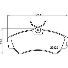 TEXTAR 2012401 (701698151C / 701698151 / 2768) колодки тормозные дисковые