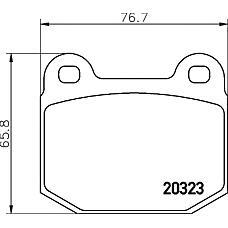 TEXTAR 2032306 (4801292 / 9199058 / 4801667) колодки тормозные Subaru (Субару) Impreza (Импреза) 00) перед.к т