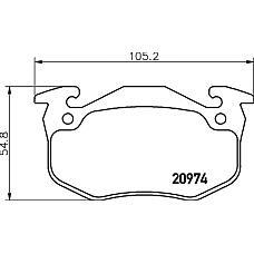 TEXTAR 2097401 (425104 / 425196 / 425071) колодки дисковые задние\ Citroen (Ситроен) saxo / Xsara (Ксара) 96-05, Peugeot (Пежо) 206 / 306 99>, Renault (Рено) Clio (Клио) 00>