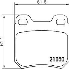 TEXTAR 2105002 (1605924 / 1605047 / 1605799) колодки тормозные дисковые