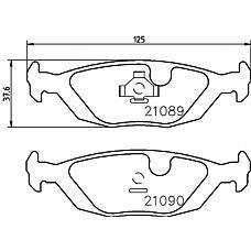 TEXTAR 2108902 (4196317 / 8968026 / 5055967) колодки дисковые задние\ Saab (Сааб) 900 2.1 16v 90-94
