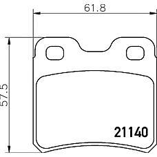 TEXTAR 2114001 (1605879 / 4467072 / 1605877) колодки дисковые задние\ Opel (Опель) vectra a 2.0i &16v <95