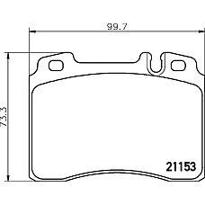 TEXTAR 2115305 (0024203720 / 0024201920 / A0024203720) колодки тормозные дисковые
