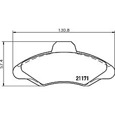 TEXTAR 2117105 (6704271 / 6500954 / 6180371) колодки торм. Ford (Форд) Escort (Эскорт) перед.к-т