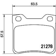 TEXTAR 2127803 (425326 / 425130 / 425266) колодки дисковые задние\ Peugeot (Пежо) 406 2.0 / 2.2 / 1.9td / 2.0hd / 2.1td 95-04 / 607all 00>
