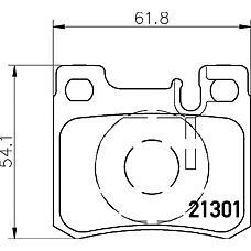 TEXTAR 2130103 (0024200120 / 0024200999 / 0024200020) колодки тормозные дисковые