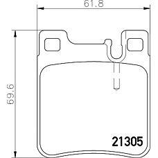 TEXTAR 2130504 (0024201620 / 0024204620 / 0024200520) колодки дисковые задние\ mb w140 91> / w202 94> / w210 97> / w220 2.8 / 3.2 98>