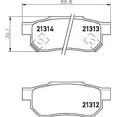 TEXTAR 2131201 (06022SP8000 / 43022SF1S01 / 43022SF1000) колодки торм. Honda (Хонда) Jazz (Джаз) 1,4 08- задние к-т