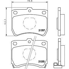 TEXTAR 2135501 (DA193328ZA / DA193328Z / KK1503328Z) колодки торм. Mazda (Мазда) 323 >98 передн. с датчиком к-т