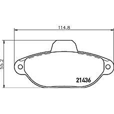 TEXTAR 2143602 (5892737 / 77362185 / 9947468) колодки дисковые передние\ Fiat (Фиат) Punto (Пунто) 1.2i 99>