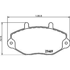TEXTAR 2146902 (1074972 / 1134159 / 1301592) Колодки тормозные передние