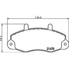 TEXTAR 2147001 (6197738 / 7018202 / 5028763) колодки дисковые передние\ Ford (Форд) Transit (Транзит) 2.0 / 2.9i / 2.5td / di 91-00