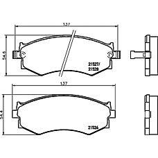 TEXTAR 2152601 (5810133A00 / 4106032R94 / 4106080N90) колодки тормозные дисковые nissan