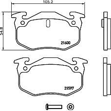 TEXTAR 2159701 (7701203919 / 7701203668 / 7701204036) колодки торм. Peugeot (Пежо) / Citroen (Ситроен) 205 / 206 / 306 задн. к-т