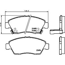 TEXTAR 2169401 (45022S04V10 / 45022SR3V01 / 45022SR3V10) колодки тормозные дисковые bmw