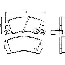 TEXTAR 2171602 (4106067R86 / 4106086R85 / 4106058Y85) колодки торм. Nissan (Ниссан) Primera (Примера) / Almera (Альмера) задн.к-т