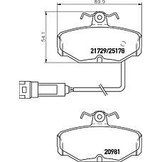 TEXTAR 2172901 (6189769 / 6155610 / 1666624) колодки торм. Ford (Форд) Scorpio (Скорпио) / Sierra (Сиера) задн.к-т