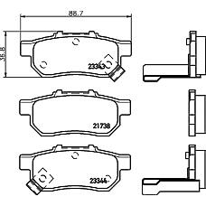 TEXTAR 2173801 (43022SR3G01 / 43022SR3G00 / 43022S04E03) колодки тормозные дисковые
