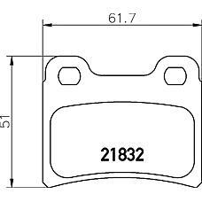TEXTAR 2183201 (0K20H3323Z / 6500959 / 7114005) колодки торм. Ford (Форд) Escort (Эскорт) задн.к-т