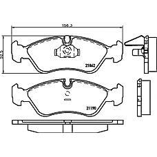 TEXTAR 2186201 (90399495 / 1605746 / 90511162) колодки тормозные дисковые
