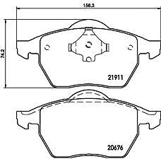TEXTAR 2191102 (3A0698151A / 3A0698151 / 8N0698151) колодки дисковые передние\ Audi (Ауди) a3 1.8t, VW Golf (Гольф) IIi-iv / Passat (Пассат) 1.8t-2.9 96>