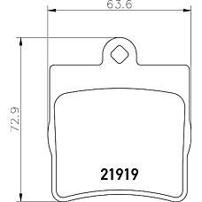TEXTAR 2191903 (0024207420 / 0024207120 / 0034202720) колодки дисковые задние\ mb w202 1.8-2.5td 93-01 / w210 2.0-3.0td 96-02