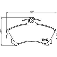 TEXTAR 2192003 (MR977117 / 4544200920 / 4605A734) колодки дисковые передние\ smart forfour 1.1-1.5 03>