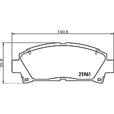 TEXTAR 2196102 (0446512160 / 044652B020 / 0449112590) Колодки тормозные передние