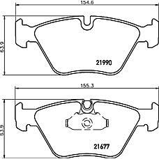 TEXTAR 2199003 (34111164629 / 34116761278 / 34216763043) колодки дисковые передние\BMW (БМВ) e39 2.0i-2.8i / 2.5tdi 96> / 3.5i / 3.0d 98-00