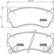 TEXTAR 2300401 (410601N090 / 410601N060 / 410601N890) колодки дисковые передние\ Nissan (Ниссан) Almera (Альмера) 1.4-1.6i / 2.0d 95-00