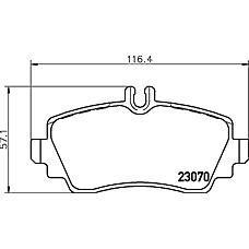 TEXTAR 2307003 (1684200020 / 1684201520 / 1684201220) колодки дисковые передние\ mb w168 1.4-2.1 97>